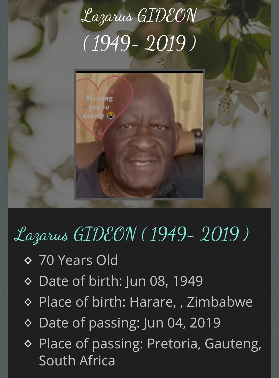 Lazarus  Gideon